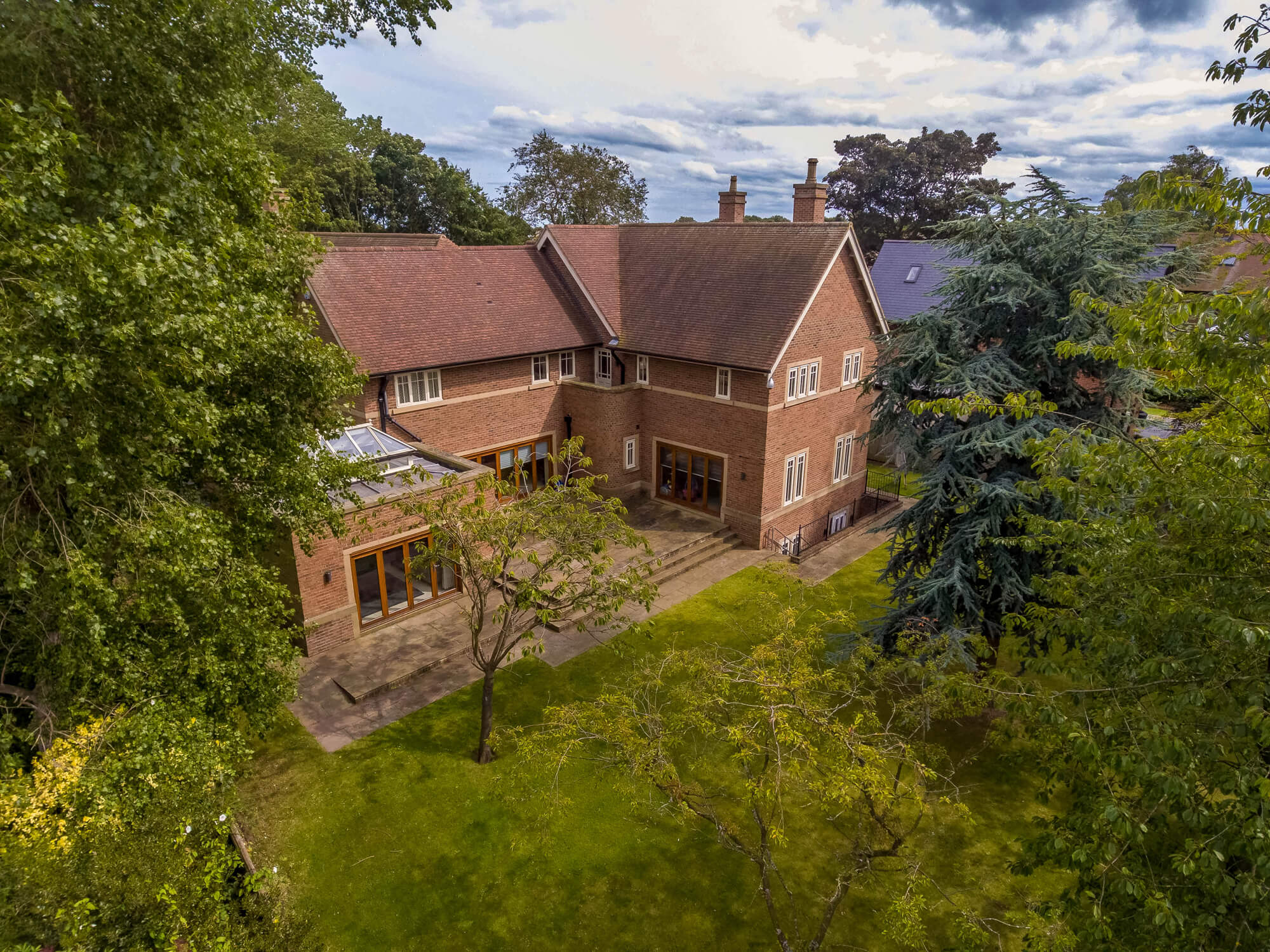 Aerial photography and videography of a property using a drone for marketing in Sunderland. Aerial photo used for marketing material by Paul Airey estate agent